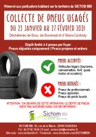 Affiche SICTOM – Collecte pneus usagés 2021